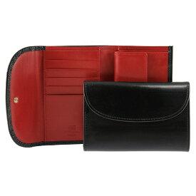 ホワイトハウスコックス WHITEHOUSE COX 財布 三つ折り財布(小銭入れ付) ブラック/レッド 3FOLD WALLET BRIDLE 2TONE S7660 BLACK/RED【英国】
