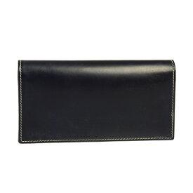 ホワイトハウスコックス WHITEHOUSE COX 財布 長財布(小銭入れ付) ネイビー LONG WALLET FOLD TAB PURSE S9697 BRIDLE NAVY【英国】