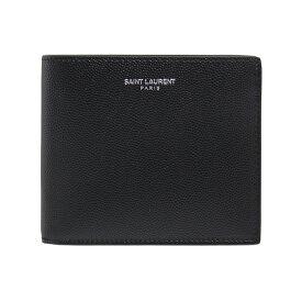 サンローランパリ SAINT LAURENT PARIS 財布 メンズ 二つ折り財布 ブラック MONOGRAM EAST/WEST WALLET PFU(127Y) 396307 BTY0N 1000 BLACK
