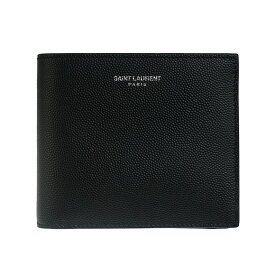 サンローランパリ SAINT LAURENT PARIS 財布 メンズ 二つ折り財布 ブラック 黒 EAST WALLET COIN PURSE SAINT LAURENT GRAIN POUDRE 396303 BTY0N 1000 BLACK