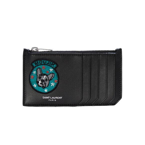 サンローランパリ SAINT LAURENT PARIS 財布 メンズ カードケース/コインケース ブラック 458593 BXRA6 1083 NOIR YVES SAINT LAURENT