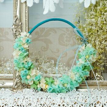 【爽やかminiリース】プリザーブドフラワー ちば花プリザ なでしこ 花 ガーデン