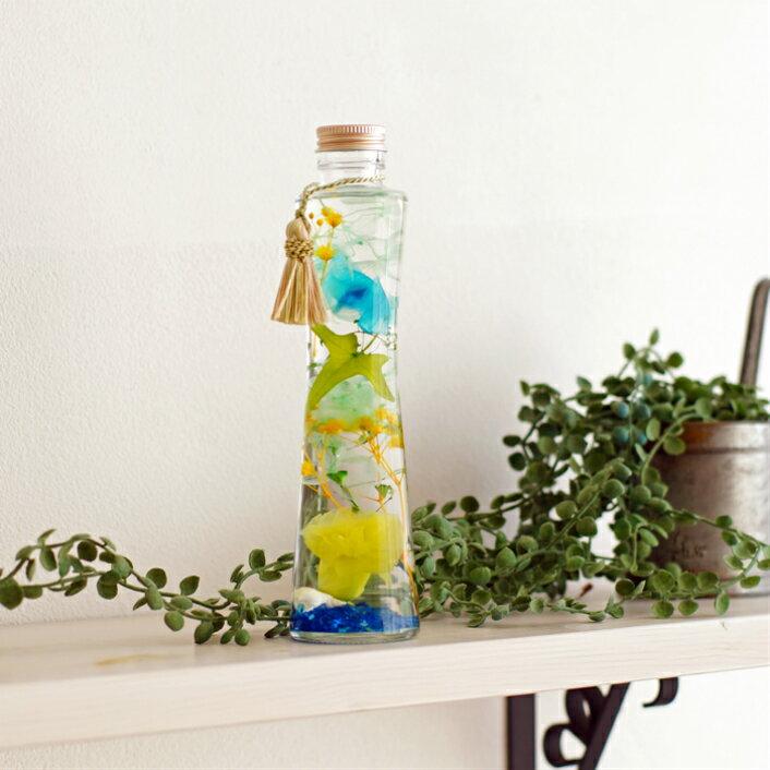 【プレミアムハーバリウム】プリザーブドフラワー ちば花プリザ カーネーション ラン サマー 父の日 花 ガーデン