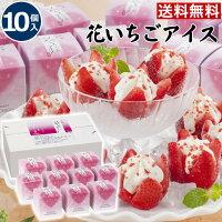 【送料無料】お取り寄せスイーツ【10個入】花いちごアイス