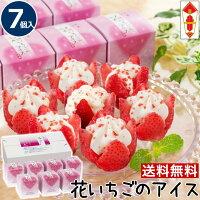 父の日送料無料ギフト【7個】花いちごのアイスアイスクリームギフト