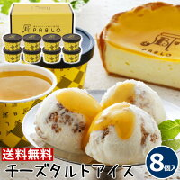 お中元ギフト【8個】チーズタルト専門店PABLOチーズタルトアイス