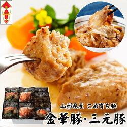 平牧三元豚・平牧金華豚調理済みハンバーグ豚丼ギフト[CNS18-9]