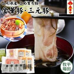 【冷凍】金華豚三元豚しゃぶしゃぶ&みそ漬けギフト[JH19-2]