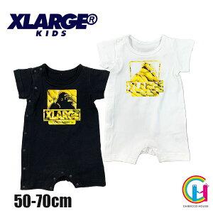 【2021春夏新作】X-LARGE KIDS xlarge バナナ柄ロンパース No.9412501 エクストララージキッズ(子供服 男の子 ベビー ナルミヤインターナショナル エックスラージ 70 新生児 ギフト ロンパース 赤ち