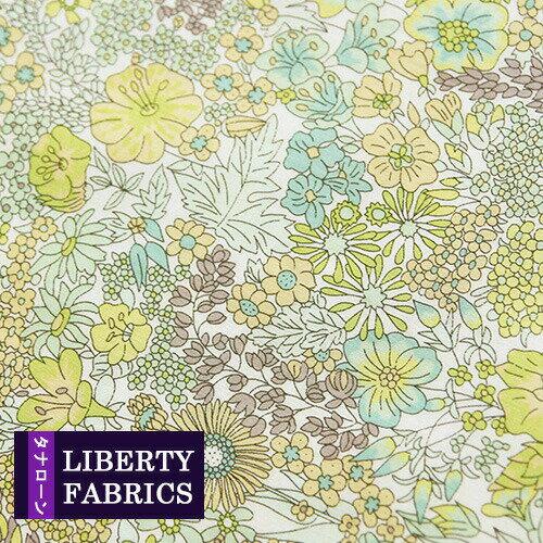 【LIBERTY】リバティファブリック《生地》Margaret Annie/やわらかでやさしいイエローグリーンのの花柄生地/3631165XE/「liberty17」(10cm単位)