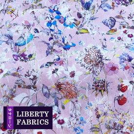 リバティプリント《タナローン/2020エターナル》Wild Flowers(ワイルドフラワーズ)ピンク系 3634251ZE(10cm単位)