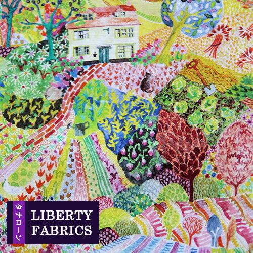 【LIBERTY】リバティファブリック《生地》Royal oak House/物語一コマのジャックの家をモチーフにしたデザイン/3637281-17A/「liberty90」(10cm単位)