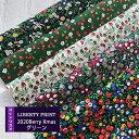 リバティカットクロス 2020BerryXmas グリーン系 5種セット【LIBERTY PRINT】Berry Christmas/おためし/はぎれ/約3…