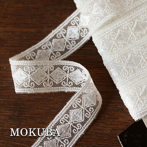 チュールレース【MOKUBA 木馬】日本製《資馬材》高級メーカーMOKUBA シンプルデザインのチュールレース 幅20mm(30cm単位)