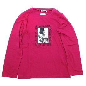 ZIDDY ジディー フォトプリント 長袖Tシャツ (ピンク) 1235-17043 130-160cm 【メール便対応】