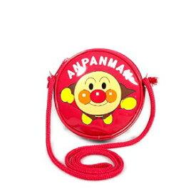 それいけ!アンパンマン 丸ポシェット / ショルダーバッグ (レッド)【メール便対応】