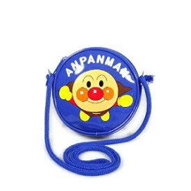 それいけ!アンパンマン 丸ポシェット / ショルダーバッグ (ブルー)【メール便対応】