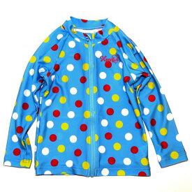 ラッシュガード B de R ビーデアール マルチドット UVカット 子供服 キッズ 女児用 女の子 1974-13016 青 ブルー