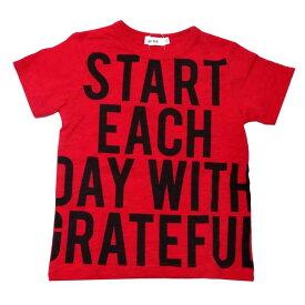 半袖Tシャツ 大ロゴプリント 赤 レッド ベビー服 赤ちゃん 子供服 キッズ 男子用 男の子 スラブ天竺 SLAP SLIP スラップスリップ 1815-13065