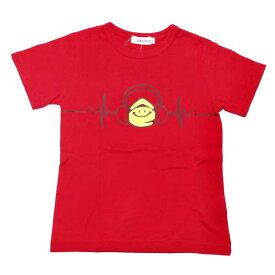 半袖Tシャツ eくんヘッドフォンプリント 赤 レッド ベビー服 赤ちゃん 子供服 キッズ 男子用 男の子 綿天竺 SLAP SLIP スラップスリップ 1815-13076