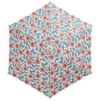 ウォーターフロント紅型花柄三つ折折りたたみ傘