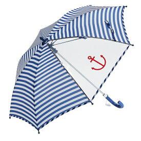 傘 ウォーターフロントWaterfront キッズマリンボーダー長傘 学生 子供 雨傘 全4色 親骨45cm 親骨50cm 親骨55cm KDMB-1L45-UH-1T/KDMB-1L50-UJ-1T/KDMB-1L55-UJ-1T