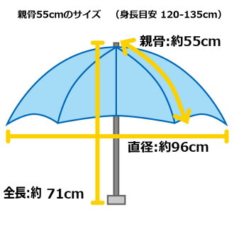 ウォーターフロントキッズマリンボーダー長傘