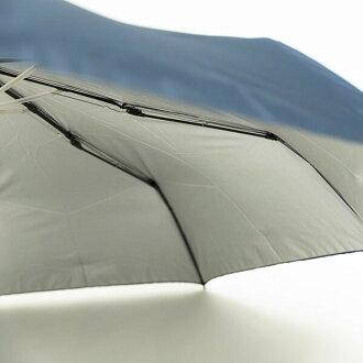ウォーターフロント親骨58cm耐風傘無地三つ折折りたたみ傘TF-3F58-UH