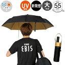 【1本までメール便選択で送料無料】傘 Waterfront バッグに優しい傘 男性 女性 学生 晴雨兼用傘 雨傘 日傘 表黒色裏金…