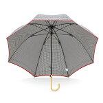 【晴雨兼用】【SHU'S】親骨58cmギンガムパイピング深張り手開き長傘(全4色)【GG-1L58-UH-1】(シューズウォーターフロント長傘【雨傘】【日傘】【UV】【ラッピング不可】【傘以外の商品とは同梱できません】