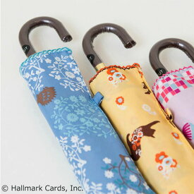 傘 晴雨兼用傘 SHU'S ホールマークコラボ FOREST 曲り手元 折りたたみ傘 全4種 Hallmark Cards,Inc親骨50cm フォレスト 折り畳み傘 雨傘 日傘 UV付 FOR-3F50-UH-1