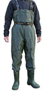 PVCウェーダー ひざあて付き 胴付長靴 あす楽 送料無料 ネオワークギア ベルト付 ポケット付 ラジアルソール 2500