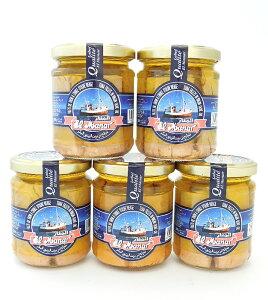 【 お得な5個セット】ツナ・フィレ(キハダマグロ)ヴァージンオリーブオイル漬 200g x 5個ライトミートTuna (Yellow fin, filet) in Vergin Olive Oil (Manarthon,Tunisia) 200g x 5pcs(チュニジア土産 輸入 魚 海