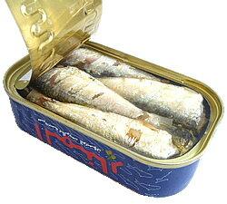 チュニジア産 オイルサーディン 缶詰(いわしのオリーブオイル漬)Oil Sardine in Olive Oil 125g (El Manar, Tunisia)