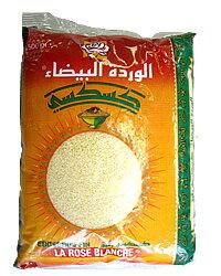 チュニジア産 クスクス 細粒 500g Couscous Fin/Fine Grain (Rose Blanche, Tunisia)チュニジア料理 モロッコ料理 マグレブ 北アフリカ フランス