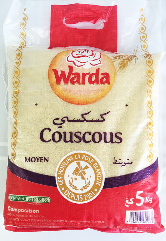 クスクス中粒 5kg袋/2袋セットCouscous 5kg Moyen/Middle Grain (Tunisia) 卸売