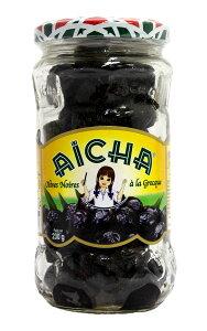 完熟黒オリーブの旨み♪『ギリシャ風ブラックオリーブ』(種付、塩とオリーブオイル漬) 230gBlack Olive Greek Style/Olive Noir facon Grece (Aicha, Morocco)(モロッコ マグレブ 前菜 ワインのアテ/お