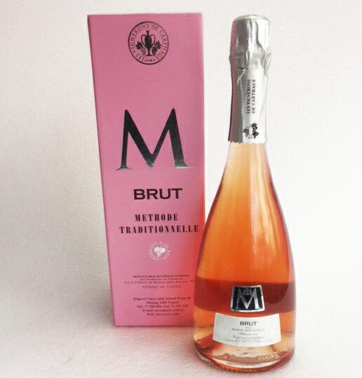 【限定ギフトボックス入り!!】チュニジアワイン M(エム)ロゼ スパークリングワイン ロゼ辛口Sparkling Wine, Rose, DryLes Vignerons de Carthage, Tunisia