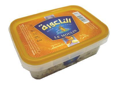 チュニジア産 ハルワ・シャミヤ・アーモンド入り200gハルヴァ・シャミア Halwa / Halva Almond (Triki Le Moulin, Tunisia)