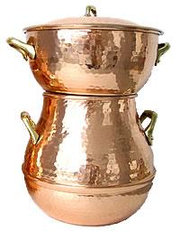 クスクス鍋 (銅製) 6.0L (6-10人用) Couscoussier Cuivre/Cpper