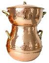 クスクス鍋 (銅製) 2.0L(2-3人用) Couscoussier Cuivre/Copper (Tunisia)