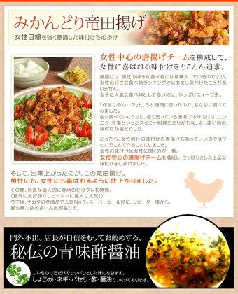 Wから揚げセット(唐揚げ&竜田揚げ)国産鶏肉紀州うめどりの冷凍唐揚げ1.2kg【送料無料】