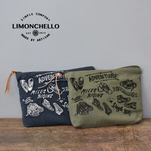 LIMONCHELLO[リモンチェッロ]ADVENTURE POUCH 刺繍ポーチ LM008F538