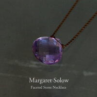 MargaretSolow[マーガレット・ソロウ]FacetedStoneNecklaceアメジスト
