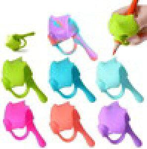 えんぴつ持ち方サポーター 鉛筆 グリップ 子供用 左右手兼用 筆記具使用の鉛筆 シャープペン ローラーボールペン (7個色