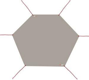 グランドシート テントシート レジャーシート 防水 軽量 420D コンパクト ヘキサゴン 六角 フロア マット タープ ワンポールテント用 アウトドア キャンプ 六角
