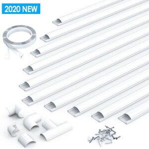 配線カバー 配線モール 電線ケーブルカバー ケーブルモール ケーブルプロテクター テープ コードプロテクター 40 2.5 1.2cm 10本パック 06