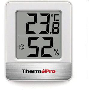 デジタル温湿度計 温度計 湿度計室内 小さい温湿度計デジタル 見やすい ホワイト 白 ThermoPro 見やすい 温度 湿度 コンパクトサイズ 乾燥 カビなどの予防 熱中症予防 卓上 壁掛け マグネット