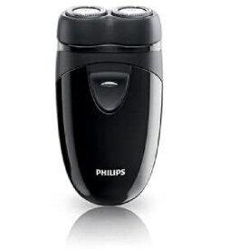 ポータブルシェーバー メンズ電気シェーバー 乾電池式 ブラック フィリップス 持ち運び便利 携帯 髭剃り ひげそり 旅行 出張 父の日 プレゼント