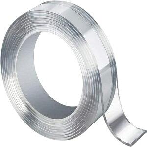 両面テープ 超強力 はがせる 透明 多用途 幅10mm×10M×厚み1mm 強力 粘着 (幅10mmX10M)